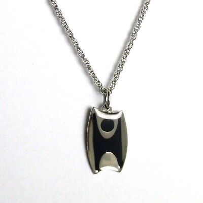 Humanist Pendant / Necklace (Black and Silver Effect)