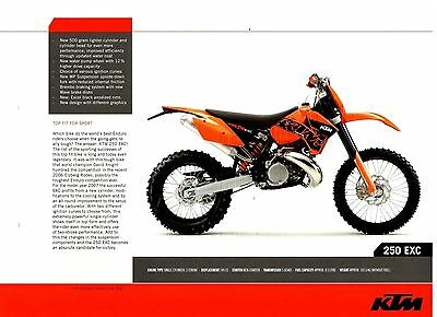 KTM 250 EXC Offroad Motorcycle Brochure / Leaflet 2006 7592E