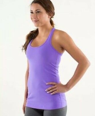 Lululemon Cool Racerback CRB tank top Purple Sz 4 6 ? Fitness Yoga