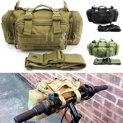 Tactical Camping Hiking Bike Bicycle Sport Military Army Travel Waist Bag Pack