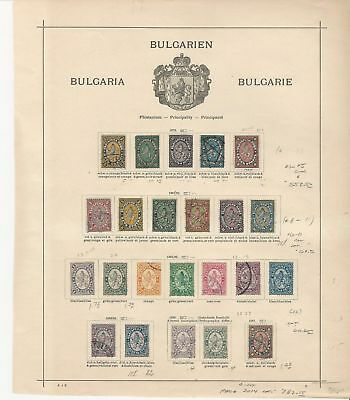 Bulgaria Collection 1879 to 1961 on 12 Album Pages, SCV $934 Nice Classics