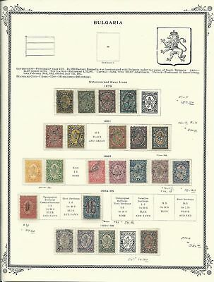 Bulgaria Collection 1879-1940 on 20 Scott Vintage Pages, SCV $528
