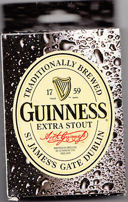 GUINNESS EXTRA STOUT PLAYING CARDS by EVANDALE,  DIV. of J.W.W., Inc. (UNSEALED)