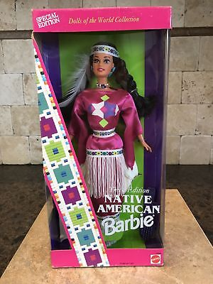 1992 Native American Barbie Doll NRFB DOLLS OF THE WORLD 12699 SPECIAL EDITION