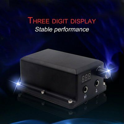 Professional Tattoo Power Supply Digital LCD Display For Permanent Machine GT