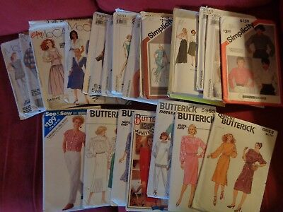 23 Vintage sewing patterns 1980s Simplicity Butterick McCalls Cut Uncut womens