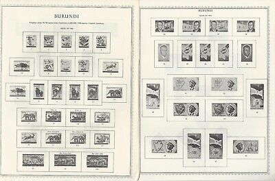 Burundi Scott International & Minkus Global Pages 1962-1971, About 30 Pages
