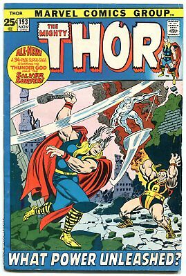 Thor #193 1971--Marvel Comics-Silver Surfer--Gerry Conway Fn