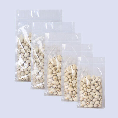 New Clear Stand Up Zip Lock Resealable Bags with Side Gusset Multiple QTY Sizes