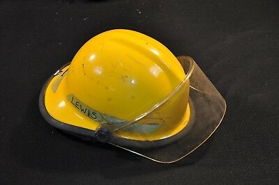 Bullard FXA-1 Firedome Fire Helmet Forestry Adjustable Small Fiber Glass Crack 1