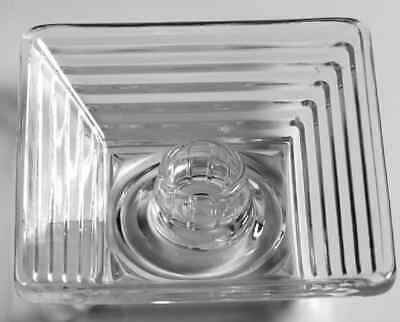 Anchor Hocking MANHATTAN CLEAR Circle Bottom Square Candle Holder 7639791