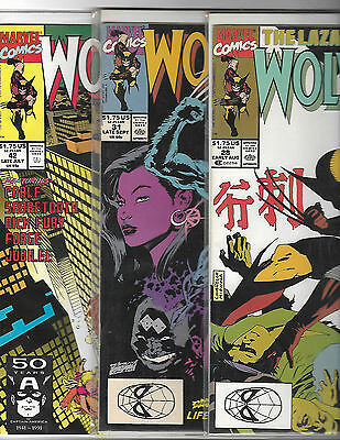 Wolverine Comic Book Lot Sabretooth
