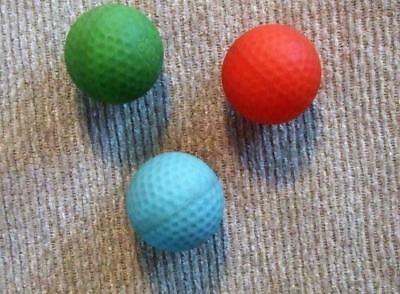 Lot/3 Vintage 1987 Parker Brothers NERF Indoor Golf Game Replacement Balls