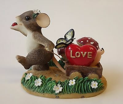 Charming Tails BRINGING ALONG A LITTLE LOVE Figurine Fitz & Floyd MOUSE Griff
