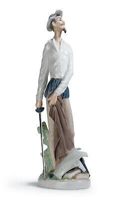 Lladro Don Quixote Standing Up Brand New In Box #4854 Man With Sword Book Save$$