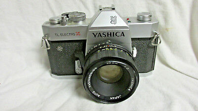 VINTAGE 1970s YASHICA TL ELECTRO X CAMERA w/ YASHICA 50mm LENS AND NEW BATTERY