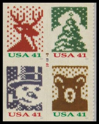 Holiday 2007 Knits 4207a-10a 4210c Block 4 From Double-Sided Pane MNH - Buy Now