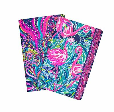 LILLY PULITZER BEACH LOOT Wellness Pocket Notebook Set / 2 Meal Planner Activity