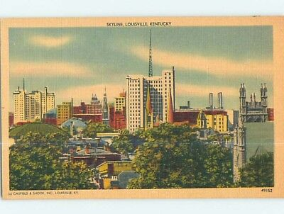 Unused Linen PANORAMIC VIEW Louisville Kentucky KY hp4090