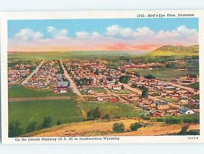 Unused Linen AERIAL VIEW Evanston Wyoming WY A4793