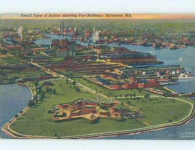 Unused Linen AERIAL VIEW Baltimore Maryland MD A4810