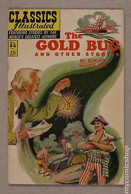 Classics Illustrated 084 The Gold Bug and Other Stories (1951) #2 VG- 3.5