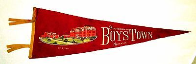 Souvenir of Boys Town Nebraska Felt Travel Pennant msc6