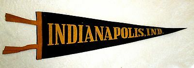 Indianapolis Indiana Souvenir Travel Pennant 1950s or earlier vintage msc6