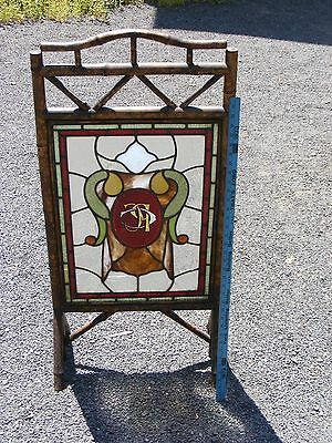 >> Nice Stained Glass Window / Fireplace Screen  pickup middlefield ct 06455