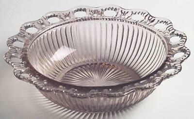Anchor Hocking LACE EDGE PINK Ribbed Round Bowl 7647143