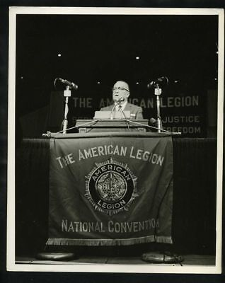 1950s J EDGAR HOOVER @ American Leagion Convention Vintage Original Photo gp
