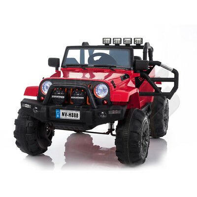 Jeep Style Electric Ride On Car 12V Battery 2.4G Remote Red