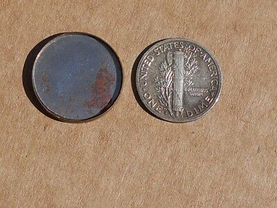 An Old Two Piece Magician's Coin Wheat Penny Turns Into A Mercury Dime