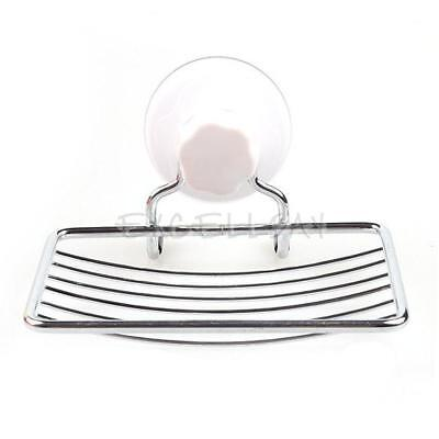 Fashion Strong Suction Bathroom Shower Accessory Soap Dish Holder Cup Tray  E0Xc