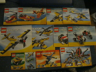 Job Lot of Lego Creator Instruction Manuals