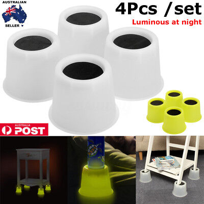 4Pcs PP Bed Riser Chair Booster Furniture Lifter Elephant Feet Aids Luminous Set