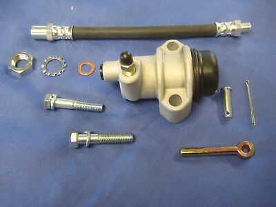 MGB 1800 CLUTCH SLAVE CYLINDER ,PUSH ROD, CLEVICE HOSE KIT AND FIXING BOLTS  a3a
