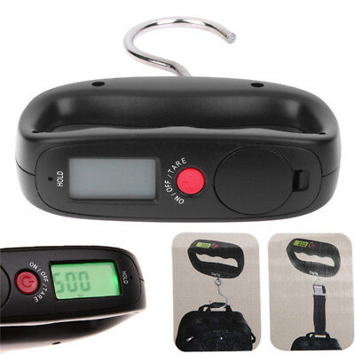 Hot 50kg/10g Green Backlight LCD Electronic Luggage Hanging Hook Scale Weight