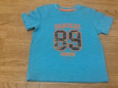 Baby Boys Size 18-24 Months Turquoise Rangers 89 T-Shirt - Brand New With Tags