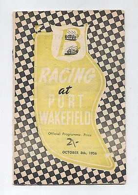 Oct 1956 Port Wakefield Programme Racing Touring Sports Motorcycle Program