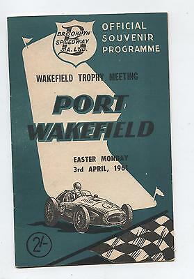 1961 Port Wakefield Easter Programme Racing Touring Sports Motorcycle Car