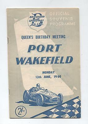 1960 Port Wakefield Programme Racing Touring Sports Motorcycle Car
