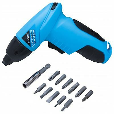 BlueSpot 4.8V Electric Cordless Screwdriver with 12 Driver Bits Set Tool Kit