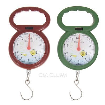10kg Weighing Portable Numeral Pointer Spring Balance Hanging Scale E0Xc