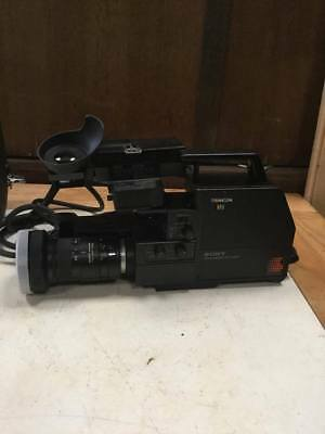 Vintage Sony Trincon Betamax Video Movie Camera with Case - Untested    #284