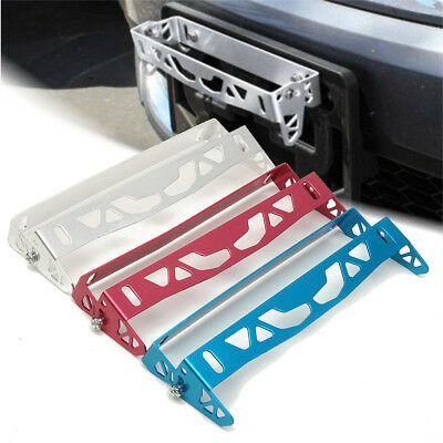 Universal Car Bumper Tilt License Number Mount Plate Holder Bracket Aluminum AU
