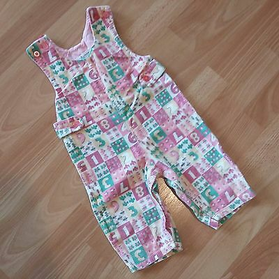 Vintage Children Outfit KMART Made in Japan Romper Courdoroy Corduroy Pink Green