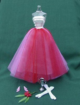 CAMPUS SWEETHEART # 1616 Prom Outfit VINTAGE Barbie Repro COMPLETE w TROPHY