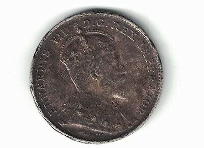 Newfoundland 1904H 10 Cents King Edward Vii Canadian Sterling Silver Coin