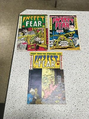 Insect Fear #1 2 3 Spain Rodriguez S Clay Wilson Underground Comix Comic Lot Set